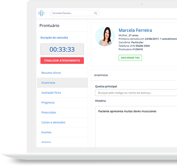 Prontuário eletrônico online para clínicas e consultórios